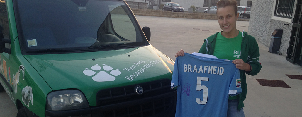 Alla BLISS PETS si gioca a calcio con Braafheid e Macheda