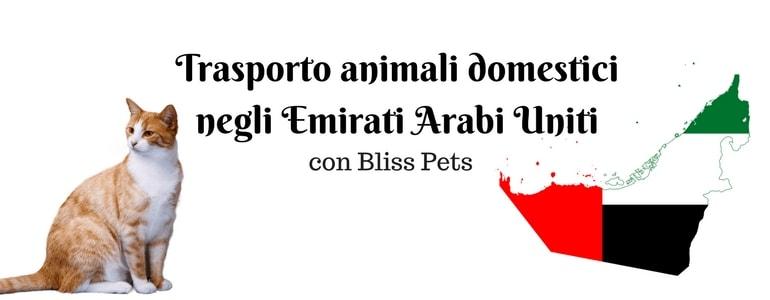 trasporto animali emirati arabi