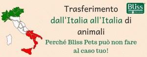 trasferimento italia italia animali